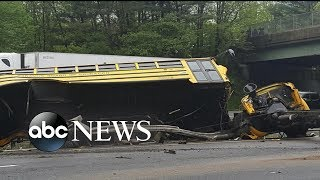 Video 2 killed, several injured after school bus collides with dump truck download MP3, 3GP, MP4, WEBM, AVI, FLV Mei 2018