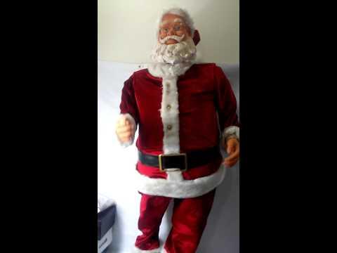 Gemmy 5ft Tall Life Size Animated Singing Dancing Karaoke Santa Claus 360811617858