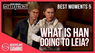 star wars battlefront   what is han doing to leia   montage ps4 best moments 5