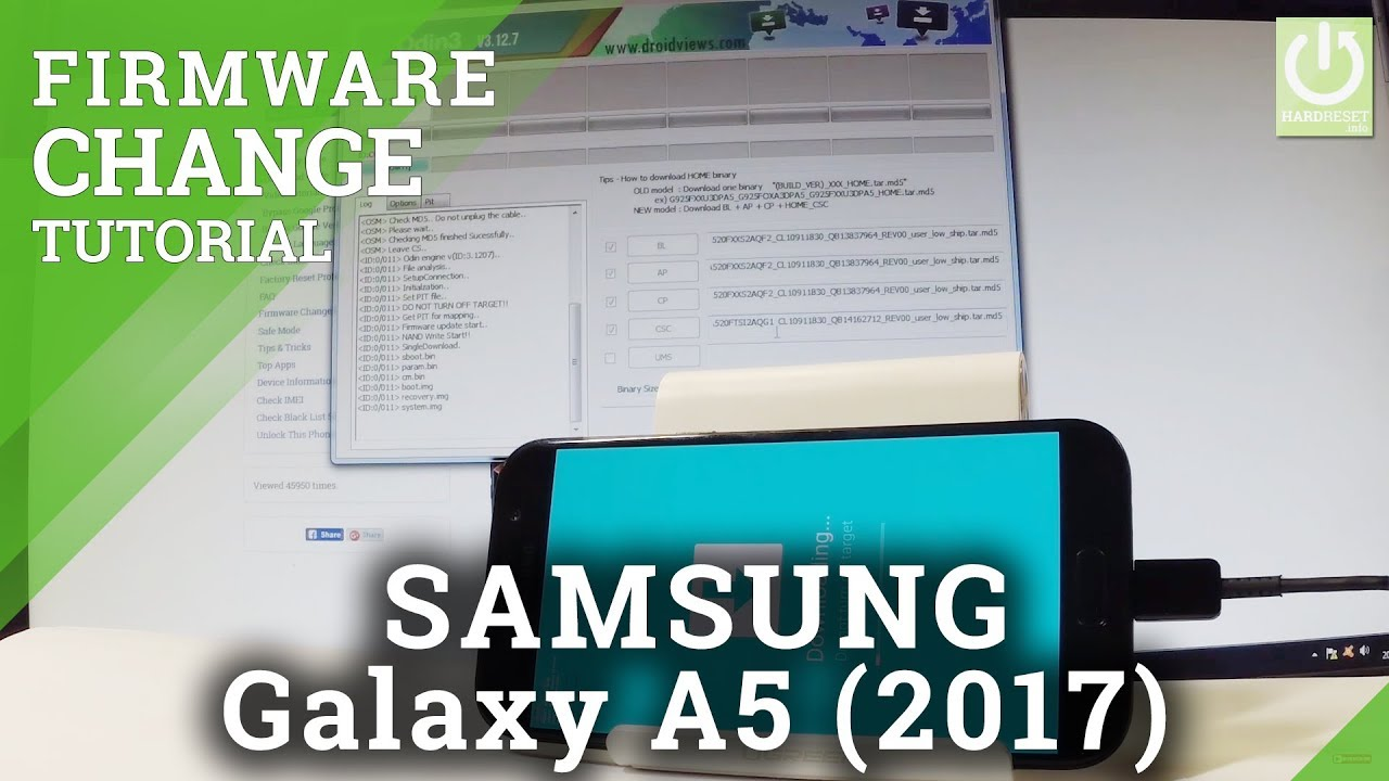 Downgrade Android in SAMSUNG Galaxy A5 (2017) - Software Downgrade