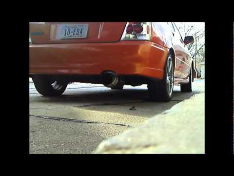 """Mazdaspeed protege 03 2.5"""" custom exhaust no cat B-10 OBX muffler"""