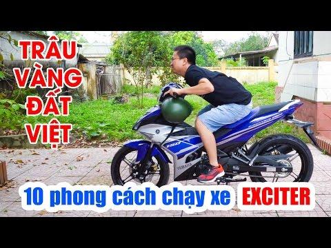 Hướng dẫn chạy xe Exciter 150 kiểu Sửu Nhi - Trẻ Trâu Việt Nam [10 Phong cách chạy xe côn tay] 4K ✔