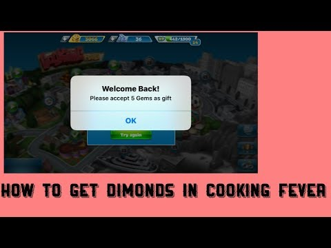 HOW TO GET FREE COINS AND DIAMONDS IN COOKING FEVER
