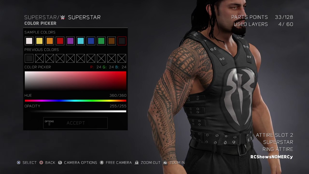 f726c17619 WWE 2K17 Roman Reigns New WWE RAW 2017 Attire - YouTube