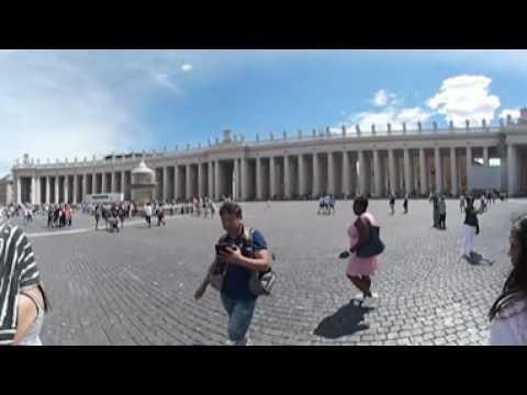 Samsung Gear 360 - European - Tour Day 05 - Walking Around Vatican City pt.1