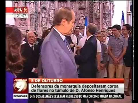 Monárquicos em Coimbra celebram os 868 anos da fundação de Portugal - SIC