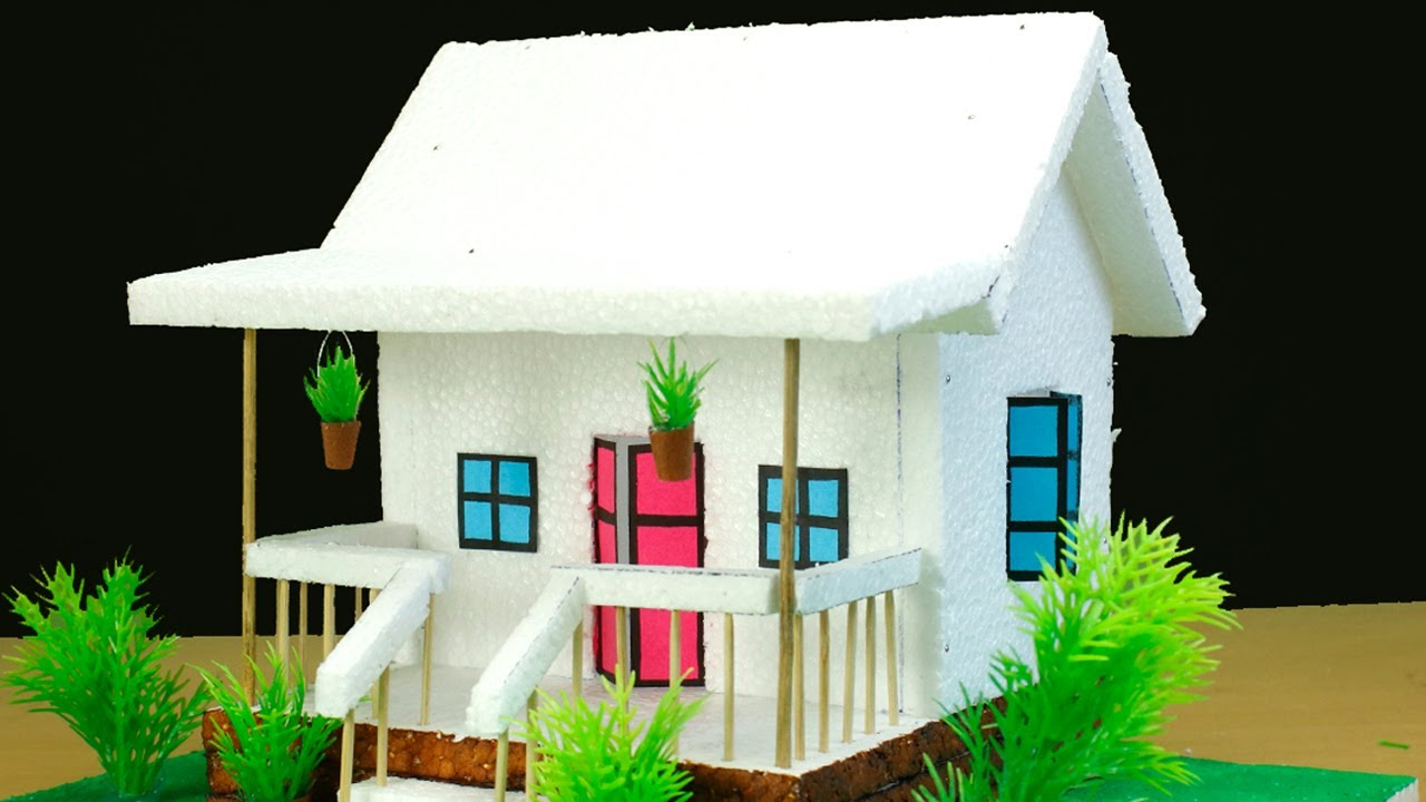 Download Thermocol House Making-  School Project Work- Easy Craft   by Dizaaizu