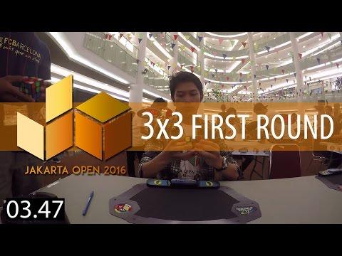 [JAKARTA OPEN 2016] 3x3 Rubik's Cube Average of 5 13.12   First Round