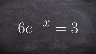 Learn how to solve an exponential function when it is negative