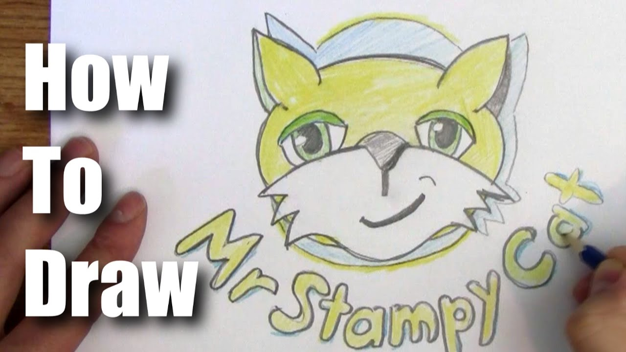How to draw stampylonghead logo youtube how to draw stampylonghead logo altavistaventures Image collections