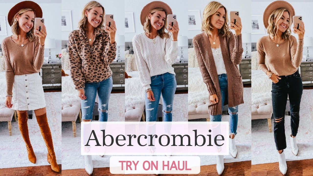 [VIDEO] - Abercrombie Fall 2019 Try On Haul | Fall 2019 Outfit Ideas 8