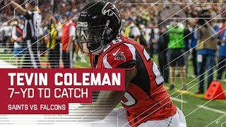 Devonta Freeman's Big Catch & Run Sets Up Tevin Coleman's TD! | NFL