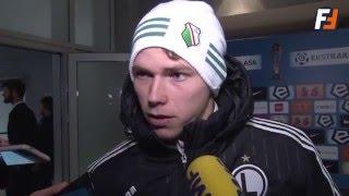 Ondrej Duda po meczu Lech-Legia 0:2