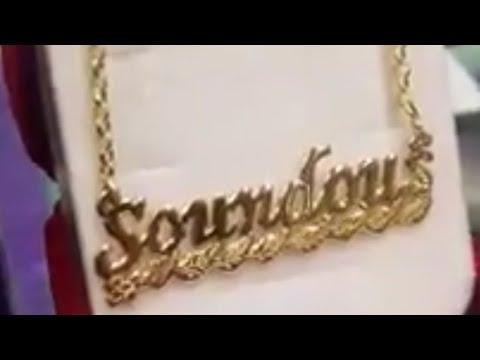 موديلات سلاسل ذهب أسماء للبنات جابت ليكم مجوهرات حفصة Youtube