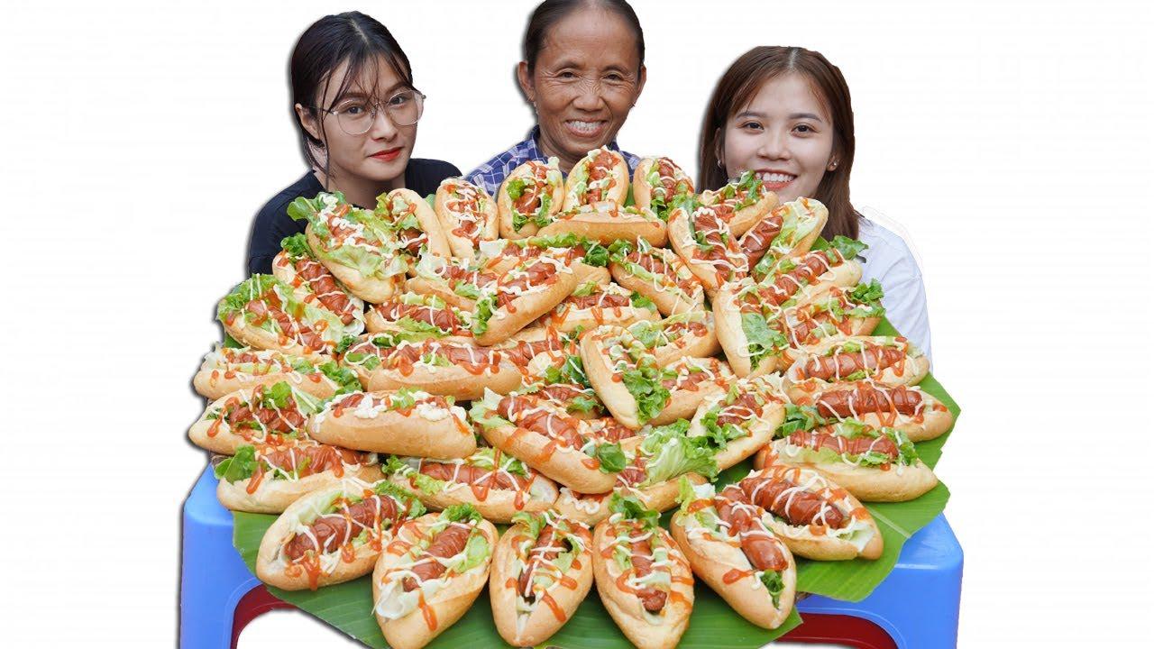 Download Bà Tân Vlog - Thử Thách Làm Mâm Bánh Mì HotDog Khổng Lồ Và Cái Kết