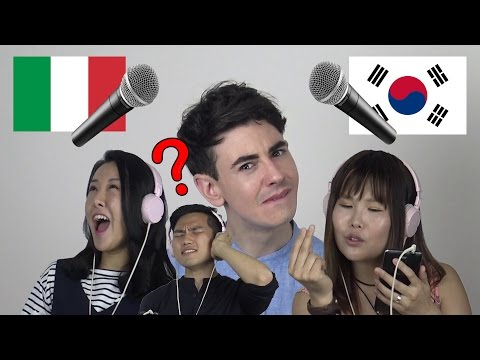 KOREANS try to SING ITALIAN SONGS