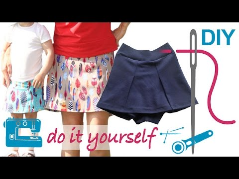 """Skirt, Hosenrock, """"Lisia"""" nähen – nähen lernen mit Zierstoff – einfach nähen"""