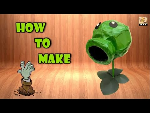How to make DIY Peashooter with waste// tutorial.