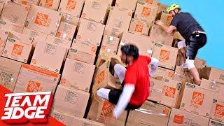 Download GIANT Box Pyramid Climb!! Mp3 and Videos