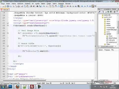 JQuery Ve Php Ile Çoklu Dosya Yükleme Uygulaması