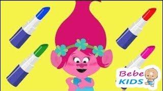 Troll Bebe's Family - Learn The Same Color Troll Bebe's -funny Stories & Nursery Rhymes