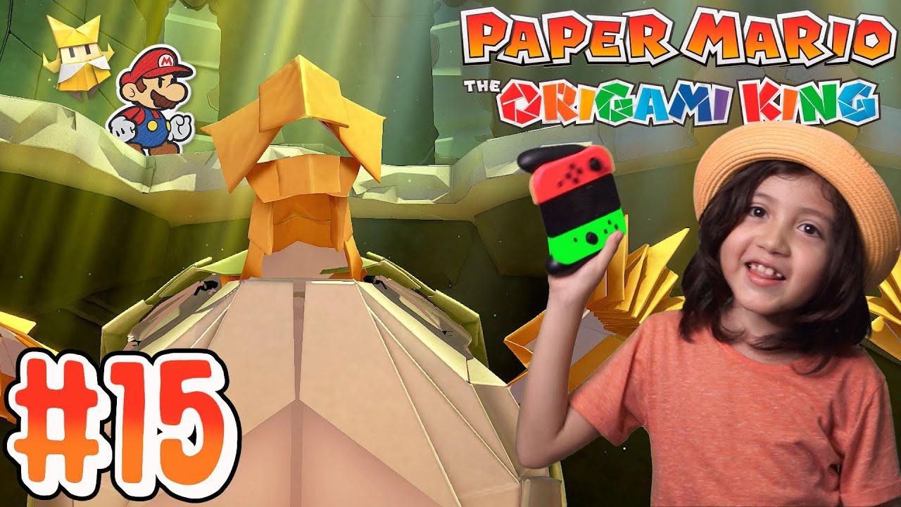 Parte 15 Enfrento a mi PRIMER JEFE / PAPER MARIO The Origami King / Diki Duki Dariel