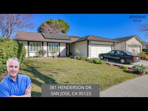 381 Henderson Dr. San Jose, CA 95123  ML81824004 | San Jose CA Real Estate | Living in San Jose