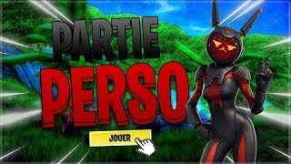 🔴PARTIE PERSONNALISEE - NEW SKIN!! LIVE FORTNITE EN!
