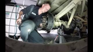 Chevy Silverado rear wheel cylinder replacement.  Drum brake leaking fix.