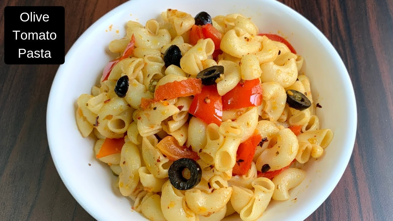 Quick macaroni pasta recipe - Olive tomato pasta - Easy Dinner recipe