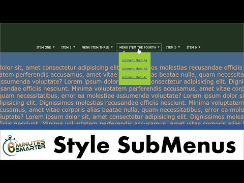 Style The Sub-menus For A Horizontal Navigation Menu With Drop-down Sub-menus