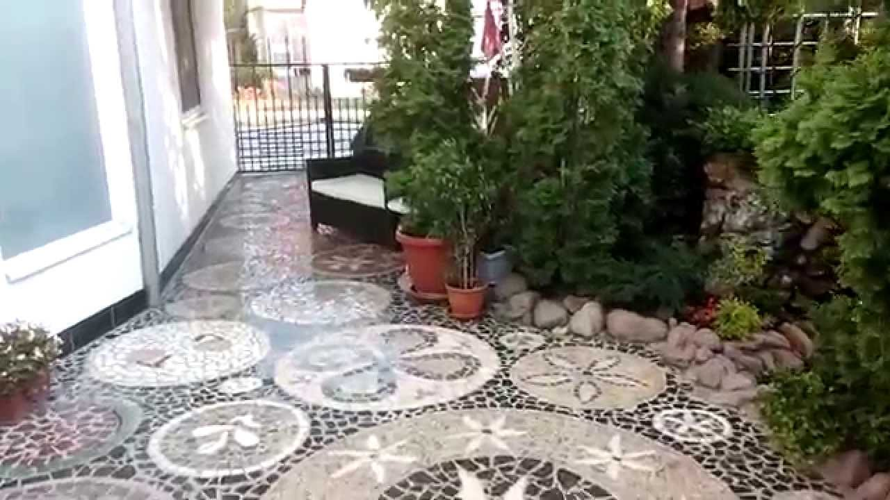 Outdoor Marble Floor Mosaic - YouTube