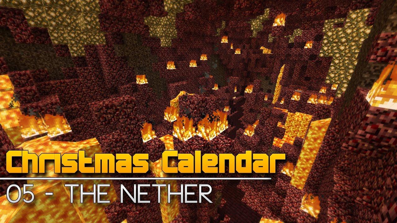 Christmas Calendar Minecraft Download : Christmas calendar the nether minecraft parkour map