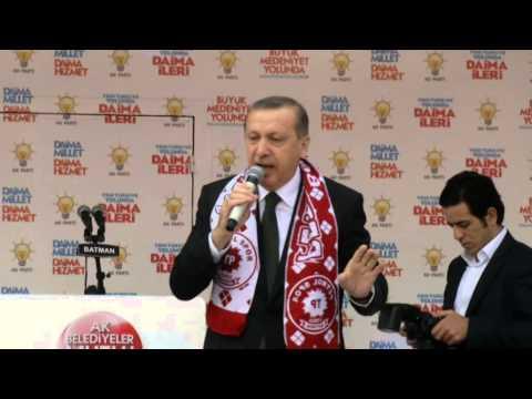 Başbakan Recep Tayyip Erdoğan Ak Parti Batman Mitingi FULL KALİTE LOGOSUZ 14.03.2014