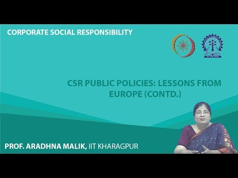 Lecture 54   CSR Public Policies  Lessons from Europe Contd  mod08lec54