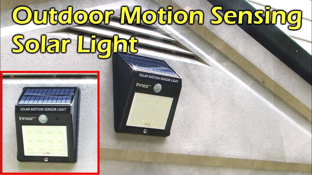 Solar Powered Motion Sensing 12 Led Waterproof Light Innoo Tech The Circuit Above Is A Sensor That Means Must Shine Into