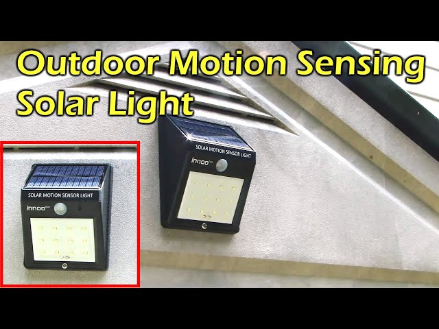 Solar Powered Outdoor Motion Sensing LED Light - Waterproof