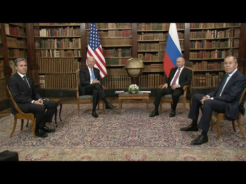 Joe Biden and Vladimir Putin meet with Foreign Ministers | A