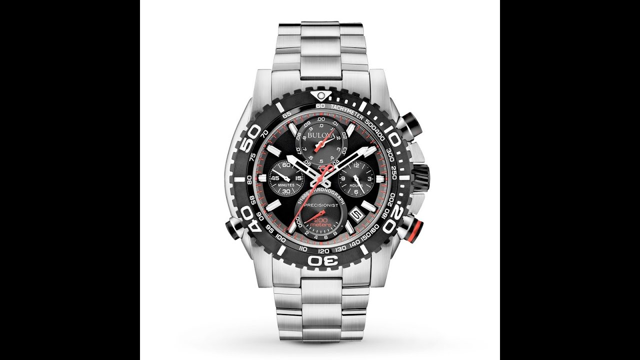 Bulova Precisionist Chronograph Watch - 98B212 - YouTube