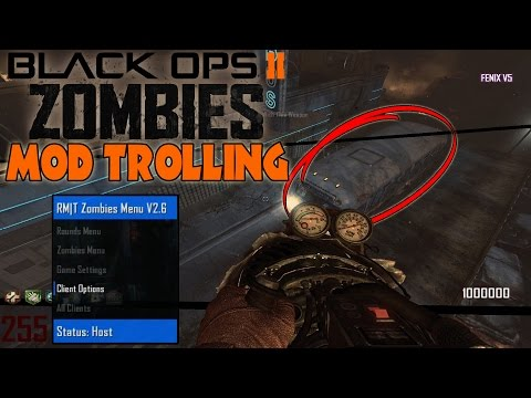 Black ops 2 Zombie Mod Trolling! (I'M THE BUS!!)