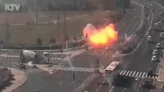 Rocket attack from Gaza nearly hits car in Israel