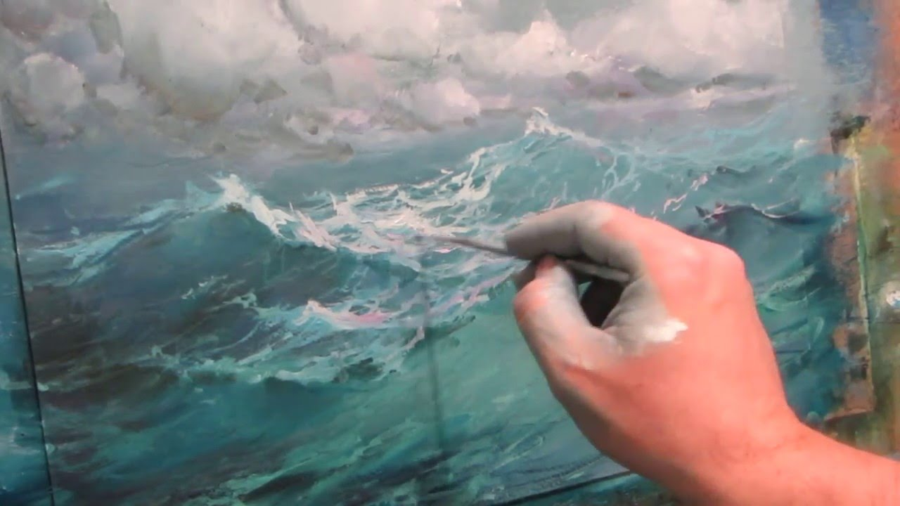 seascape oil painting ocean part 2 youtube