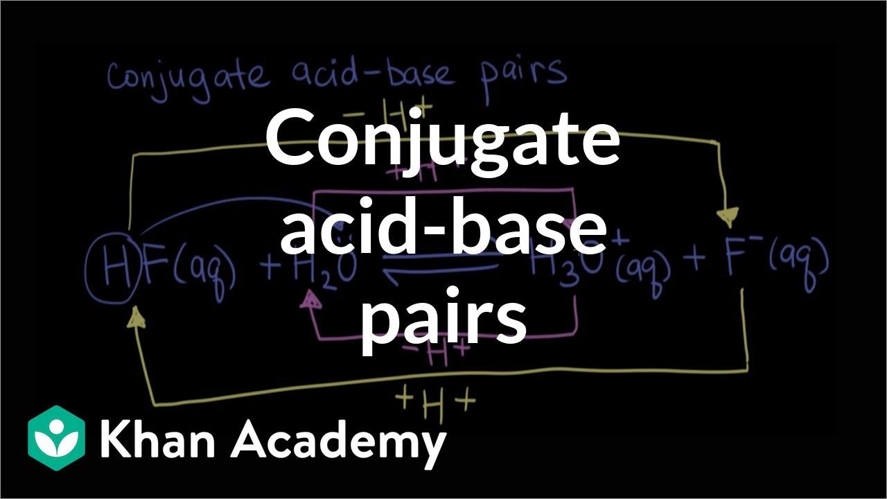 Conjugate acid–base pairs (video)  Khan Academy