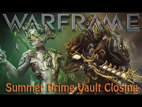 Warframe - Summer Prime Vault Closing
