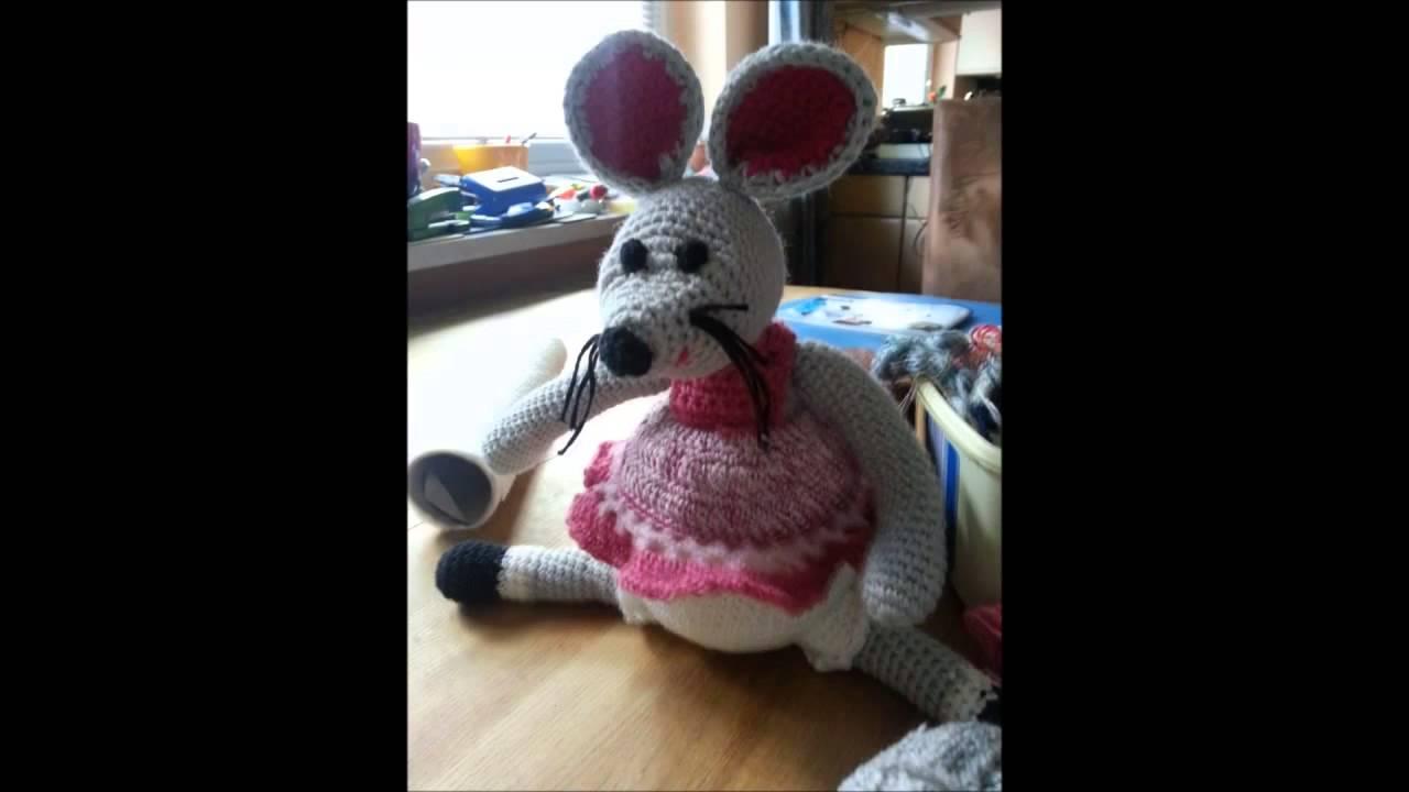 Lustige Maus Häkeln Haekelnundstricken Youtube