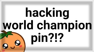 Did he HACK the rarest pin in the game? 🌐