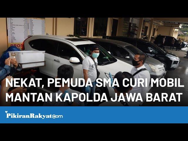 Nekat, Pemuda SMA di Tasik Curi Mobil Mantan Kapolda Jawa Barat