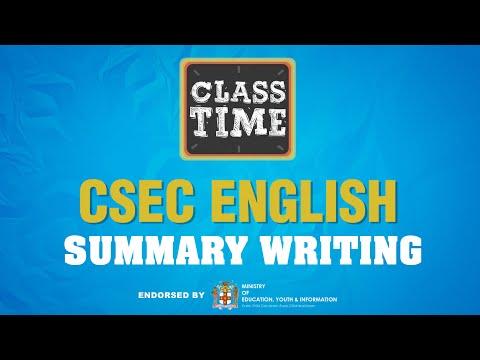 CSEC English | Summary Writing - June 2 2021