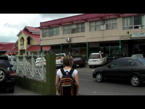 Antigua - St. John's market and traffic