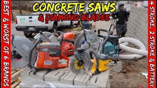 Best & worst Concrete saws & diamond blades from Makita, Hilti, Dewalt, Stihl, Echo and Husqvarna